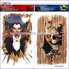 halloween door cover wall spooky decoration scary scene setter