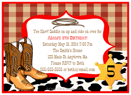 cowboy party invitations plumegiant com
