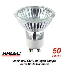 gu10 50w halogen light bulbs bulk 50 pack x 240v gu10 50w halogen downlight globes bulbs