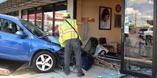 car crashes into cleona hair salon