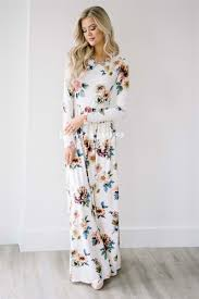 floral dresses ivory pink floral maxi modest dress best and affordable