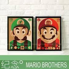 jeux de mario cuisine home decor 28 cm x 23 cm cadre mario brothers chambre enfants