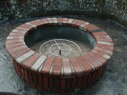 How To Make A Brick Fire Pit In Your Backyard by How To Build A Outdoor Fire Pit With Brick Home Outdoor Decoration