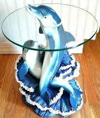 Dolphin Table Dolphins Coffee Table Dolphin Coffee Table With Glass