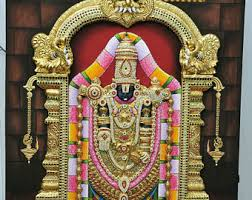 lord venkateswara photo frames with lights and music tanjore painting etsy