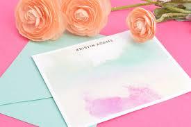 watercolor notecards custom watercolor stationery