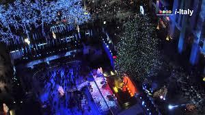 new york rockefeller center christmas tree lighting up youtube