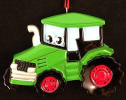 tractor ornament etsy