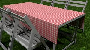 Poly Picnic Tables by Picnic Table Cover And Chairs 3d Model Cgtrader