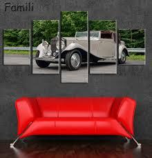 Retro Living Room Art Online Get Cheap Car Poster Art Black Aliexpress Com Alibaba Group