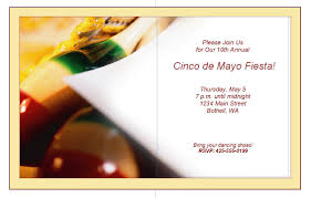 epic casual custom cinco de mayo fiesta theme passover invitations