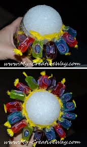 my creative way how to make a candy bouquet in a wine glass
