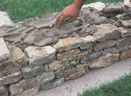 how to build a rock garden wall