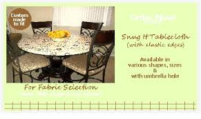 Custom Fitted Table Covers by Just Cover It Up Fitted Elastic Edge Tablecloths For Your Dining