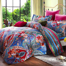 bright colored paisley bedding i have a collection of these