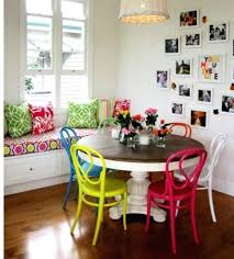 colorful dining room tables home design