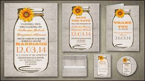 Sunflower Wedding Invitations Read More U2013 Sunflower Burlap And Mason Jar Wedding Invitation