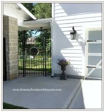 from my front porch to yours farmhouse garage door makeover