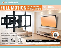 full motion tv wall mount 60 inch full motion tv wall bracket 60