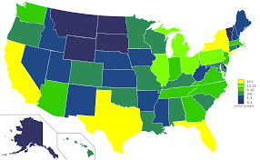 Map Of States Of Usa by File Usa States Population Map 2007 Color Svg Wikimedia Commons