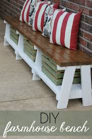 Diy Bench With Storage Simple Diy Farmhouse Bench Tutorial With Storage