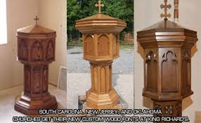baptismal fonts baptismal fonts and holy water fonts king richard s liturgical