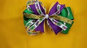 mardi gras bow mardi gras hair bow green purple yellow pinwheel demo
