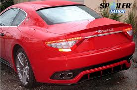 2016 maserati granturismo rear 2007 2011 maserati granturismo coupe rear window spoiler