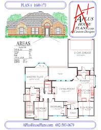 traditional house plans one story house plan 1649 173 traditional stone brick front elevation