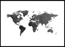 Black World Map by Poster World Map Poster With Maps U0026 Cities