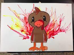thanksgiving turkey art project smart class blow paint turkeys 2nd and 3rd grade