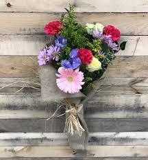 flower delivery rochester ny just because burlap wrap bouquet rochester ny florist