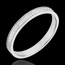 bague mariage or blanc alliance maxim or blanc 18 carats bijoux edenly