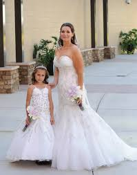 matching wedding dresses and matching flower dresses