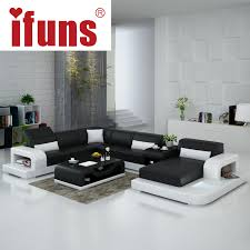floor sofa ifuns large size u shaped genuine leather sofa set