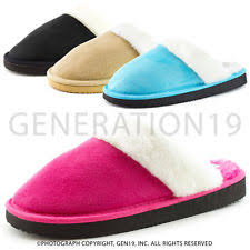 Womens Bedroom Slippers Synthetic Fluffy Slippers For Women Ebay