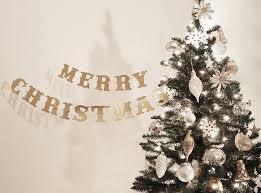 merry tree bannerchristmas glitter tree bannergold