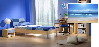 interior bedroom mixing paint colors bright blue for modern