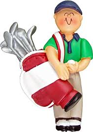 ornament central oc 105 m golfer with clubs ornament