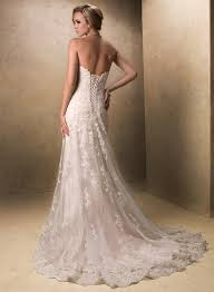 vintage lace wedding dress with cap sleeves and open backcherry