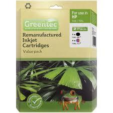 greentec hp 74 75xl ink cartridge 2 pack officeworks