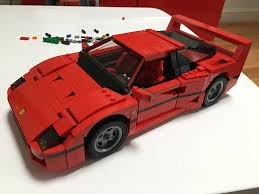 lego sports car i built a ferrari f40 lego set and no i will not apologize the