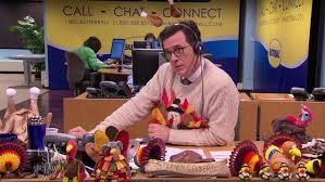 late lately colbert s thanksgiving advice corden s
