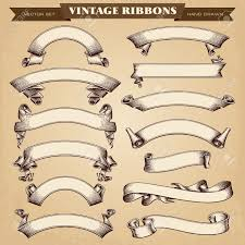 vintage ribbon vintage ribbon banners vector collection royalty free cliparts