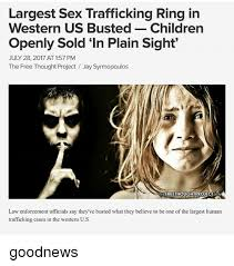 largest sex trafficking ring in western us busted children openly
