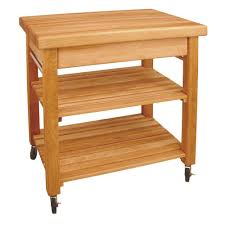 catskill craftsmen natural kitchen cart with butcher block top french country natural kitchen cart with storage