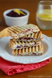 leftover turkey cranberry pesto panini wine glue