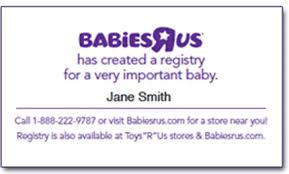 stores with baby registry baby registry cards free personalized babies r us