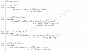 class 9th class ixth cbse factorization of algebraic expression