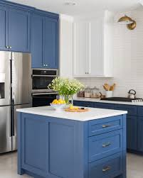 navy blue and grey kitchen ideas before and after a navy and white kitchen and breakfast